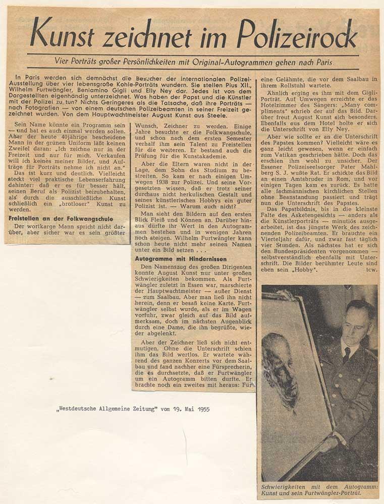 Bericht über die Ausstellung in Paris 1955