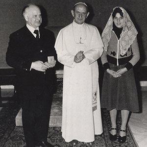 August Kunst Privataudienz bei Papst Paul VI